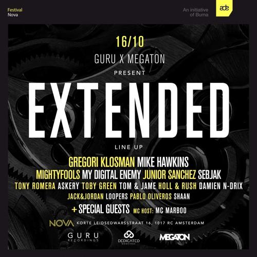 "Guru & Megaton present ADE's longest running event ""Extended"""