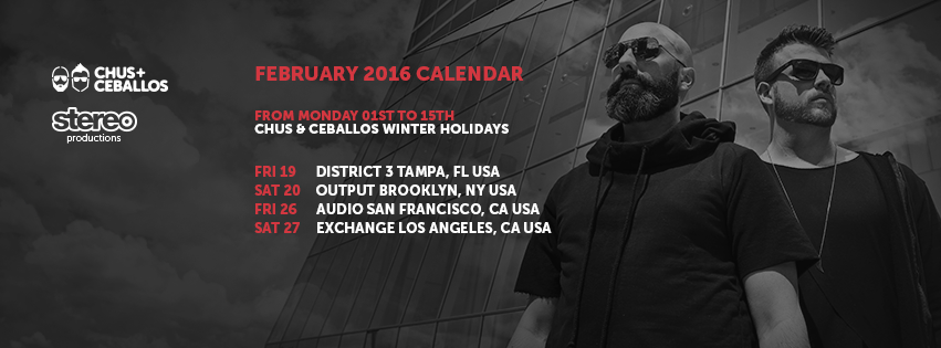 Chus & Ceballos Release BPM After Movie and Announce Feb Tour Dates
