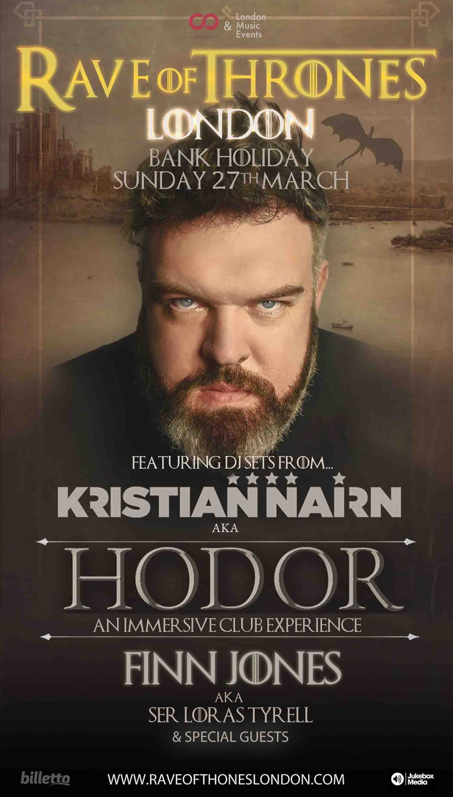 Hodor Launches Rave of Thrones in London – Easter Sunday at Bankside