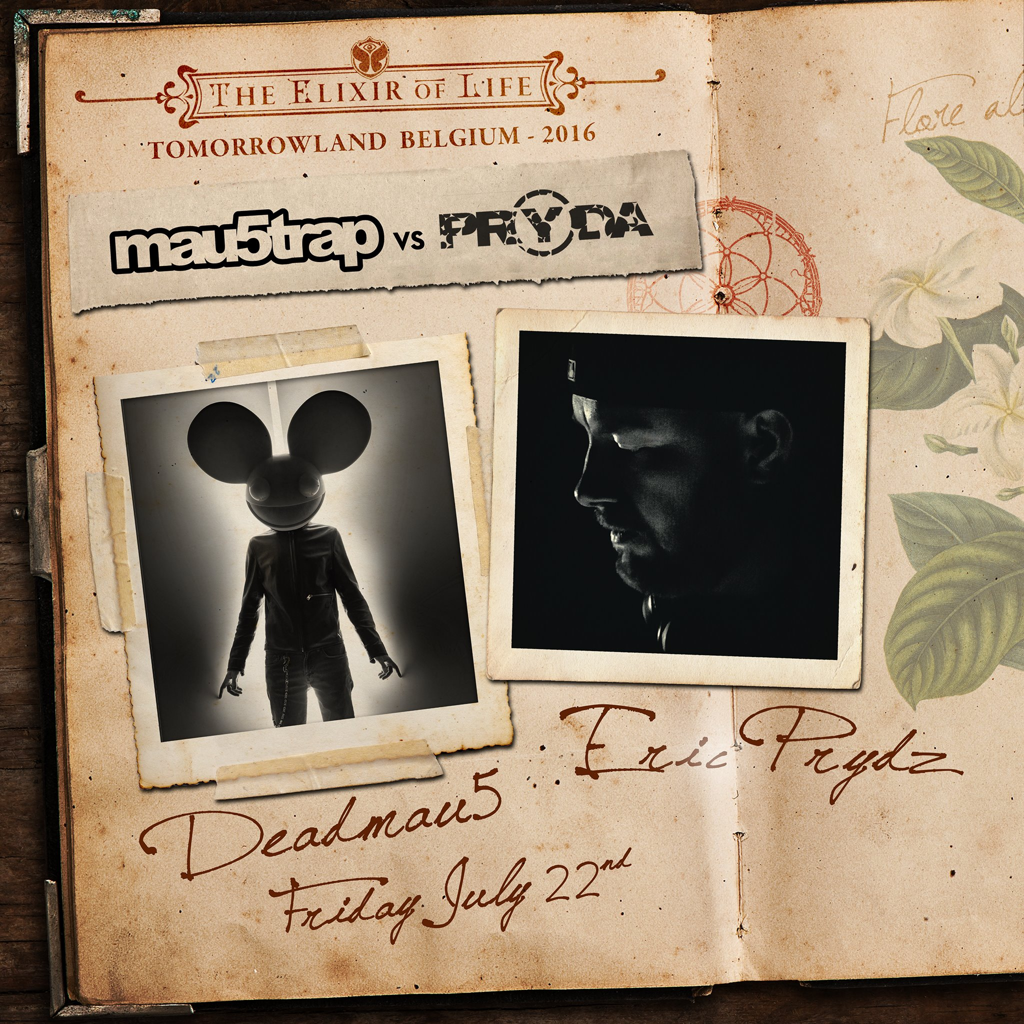 Tomorrowland announces deadmau5 and Eric Prydz as first artists