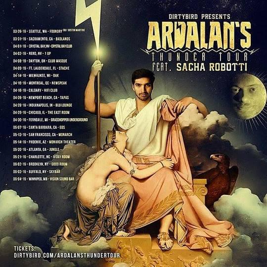 Dirtybird's Thunder Tour Ft. Sacha Robotti & Ardalan