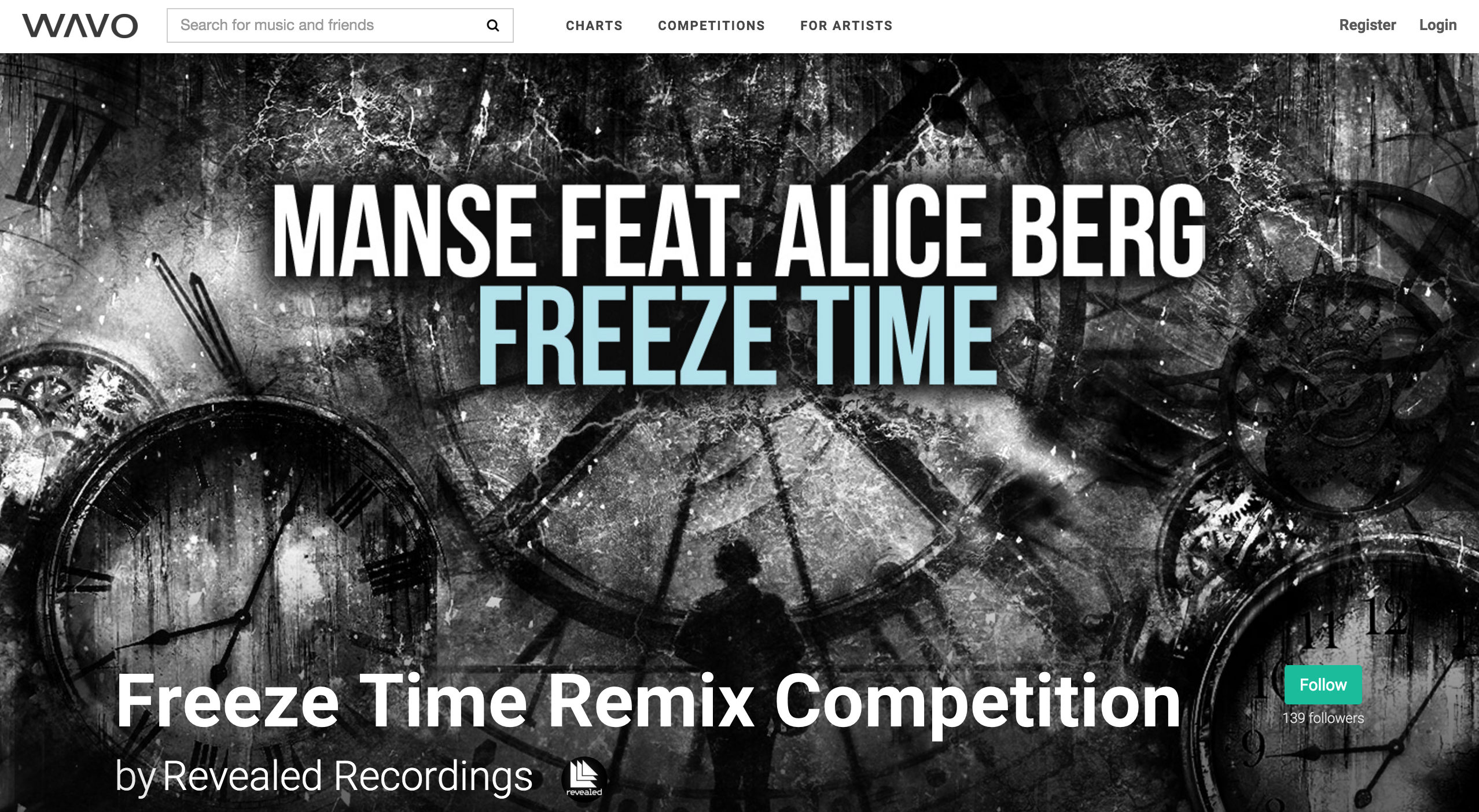 MANSE & REVEALED RECORDINGS ANNOUNCE 'FREEZE TIME' REMIX COMPETITION