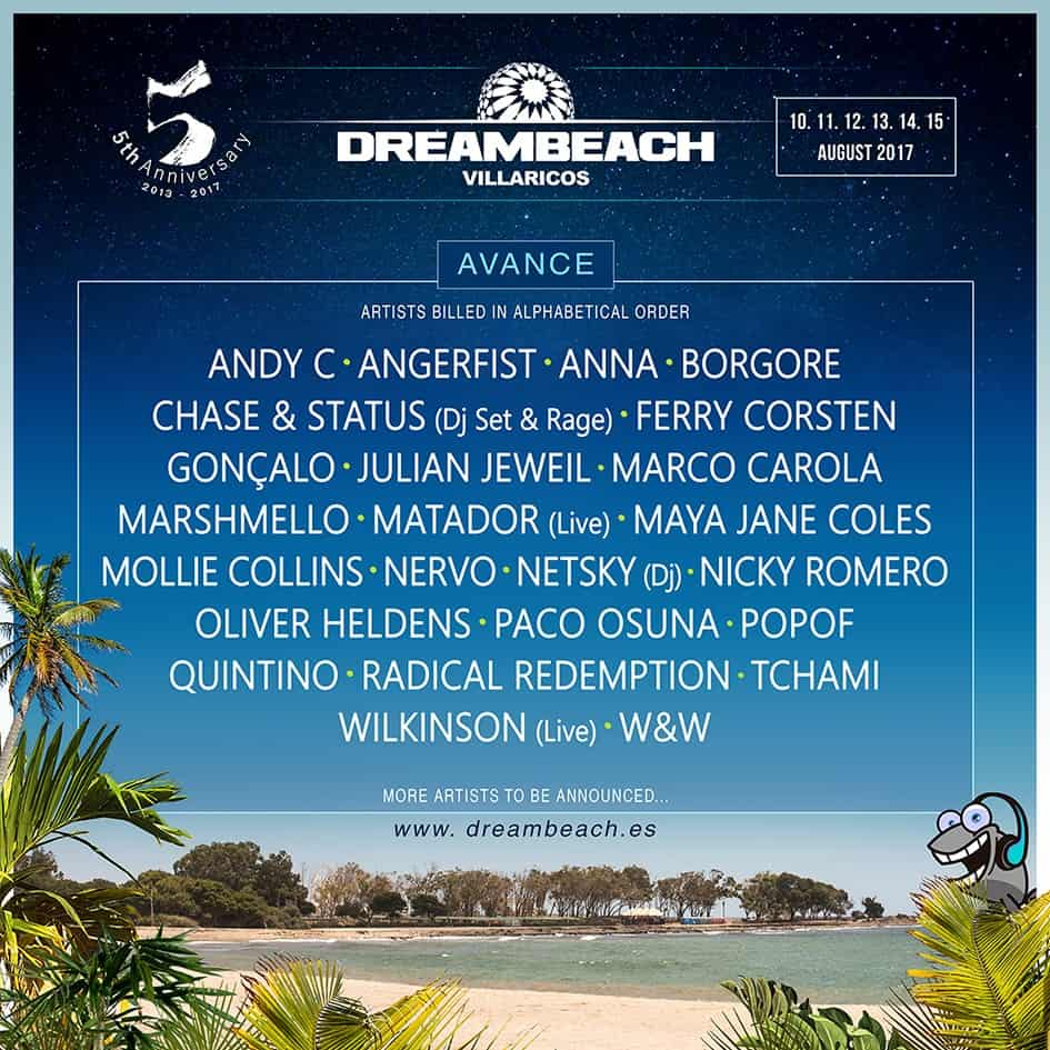 DREAMBEACH FESTIVAL 2017: FIRST WAVE OF ACTS ANNOUNCED