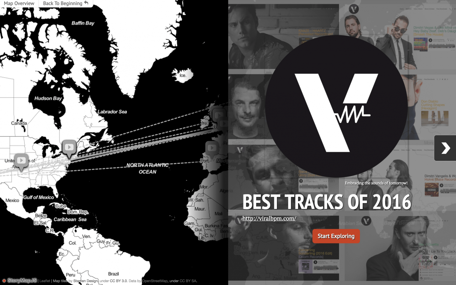 The Best House Music Songs Of 2016 into a #storymap by Viralbpm!
