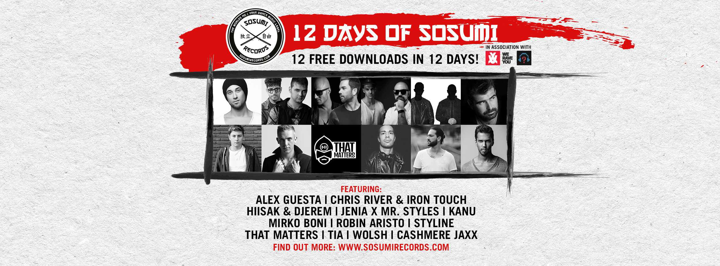 The #12DaysOfSosumi: All the free tracks by Kryder's label!