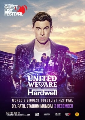 HARDWELL OPENS GUESTLIST FOR 'UNITED WE ARE' AT THE WORLD'S BIGGEST GUESTLIST FESTIVAL TO EDUCATE 100,000 CHILDREN