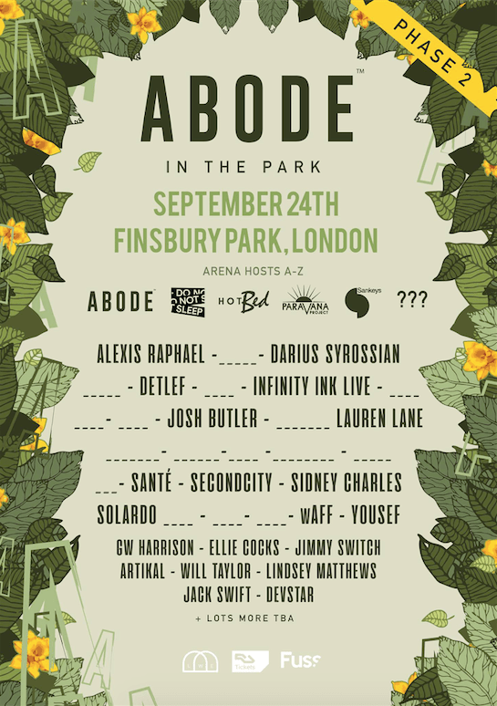 ABODE In The Park release 2​nd​ phase of acts including Solardo, Lauren Lane, Richy Ahmed, wAFF and Alexis Raphael.
