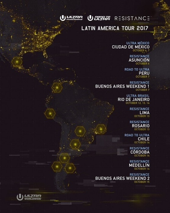 Road To ULTRA & RESISTANCE Latin America Dates & Lineups Announced