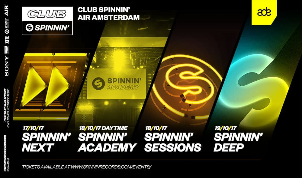 Spinnin' Records Presents ADE 2017 Programme