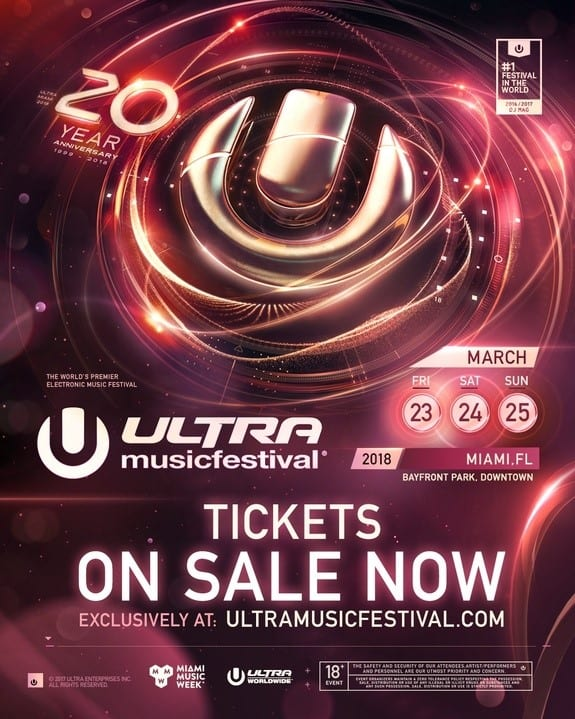 Ultra Music Festival 2018 Tickets On Sale