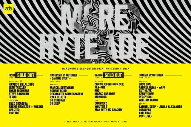 Two of four HYTE ADE events already sold out, tickets for the others are going fast