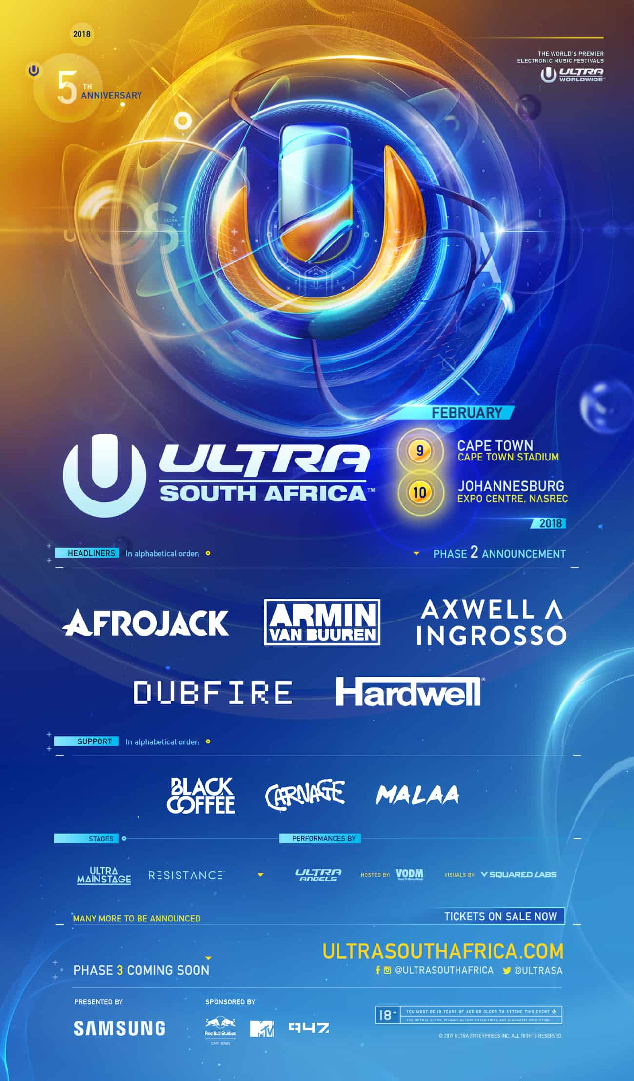 Ultra South Africa Releases Phase Two Lineup Ahead Of 5th Anniversary