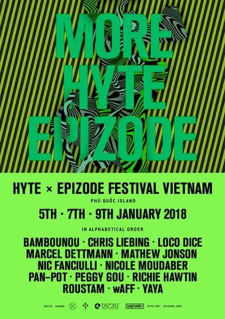 Epizode Festival in Vietnam Presents HYTE Stage