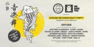 Sosumi Records ADE 2017 Cruise