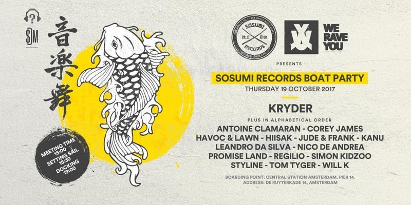 Sosumi Records ADE 2017 Cruise