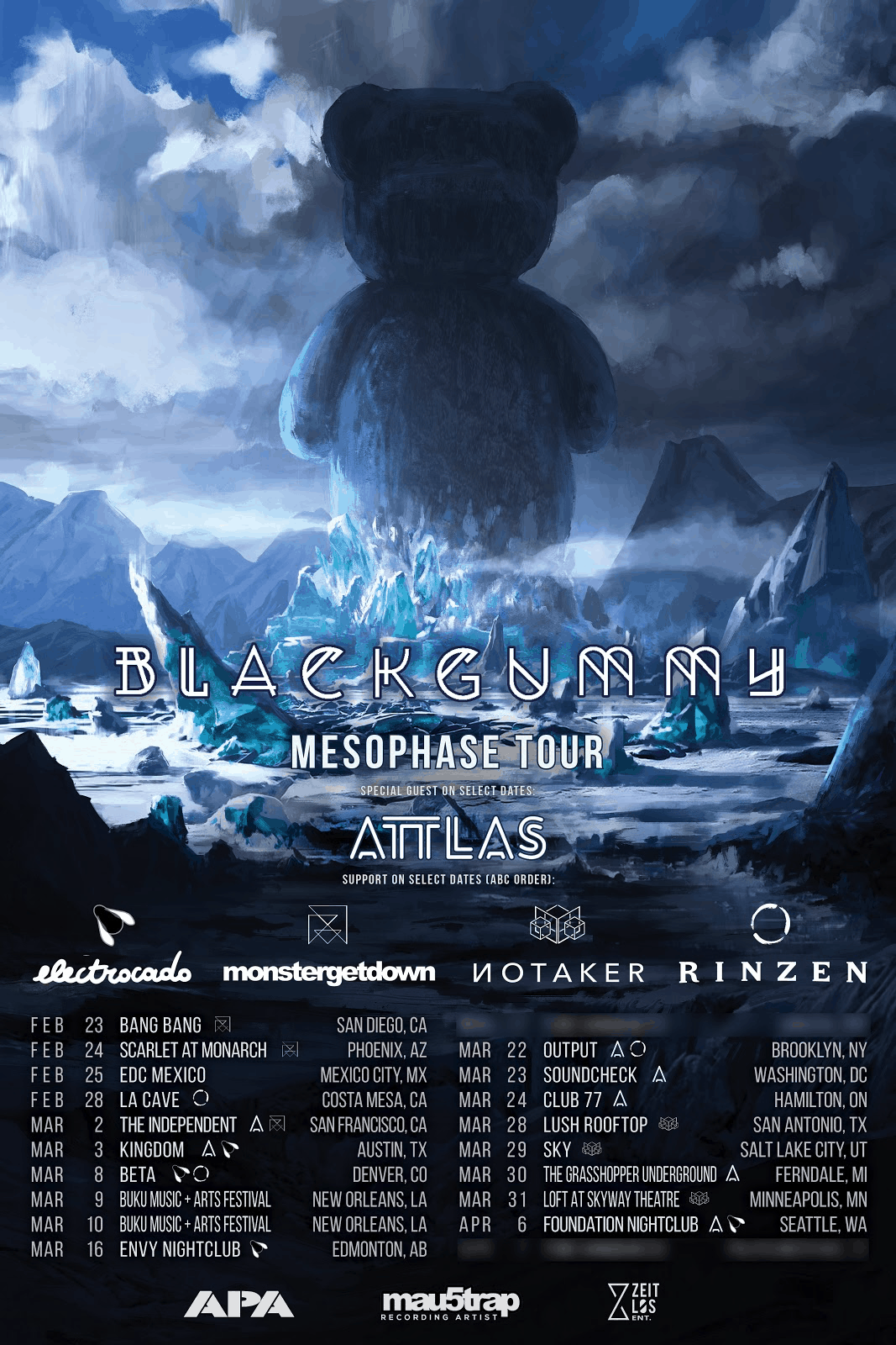 BlackGummy reveals Mesophase Tour with support from mau5trap artists