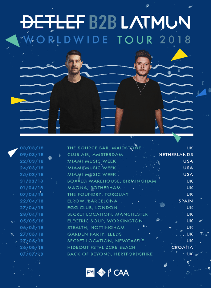 Detlef and Latmun announce special B2B World Tour
