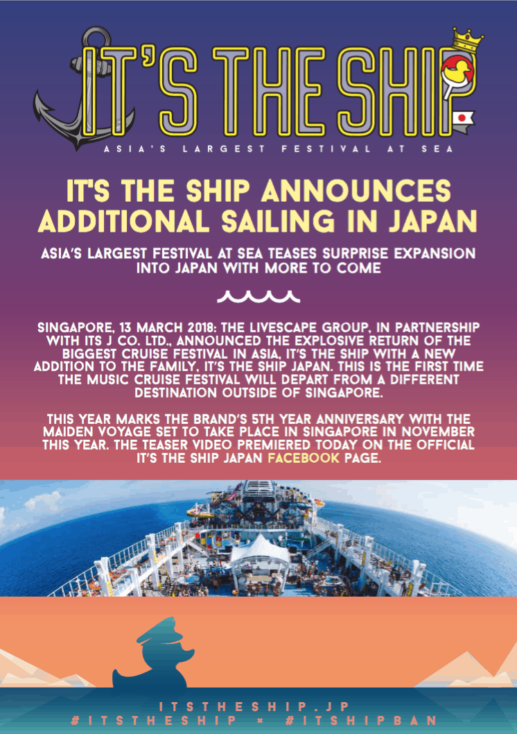 IT'S THE SHIP Welcomes Japan To The Family!