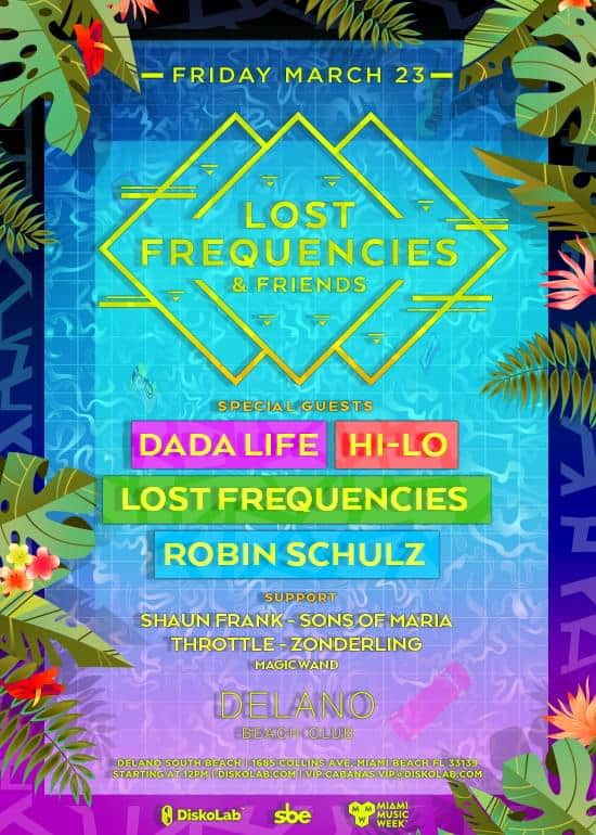 Lost Frequencies unveils huge 'Lost Frequencies & Friends' pool party at Delano Beach Club Miami on March 23rd