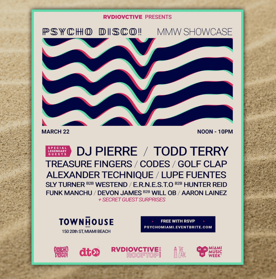 Miami Music Week 2018 Showcase feat. DJ Pierre, Todd Terry, Golf Clap, Treasure Fingers, & More