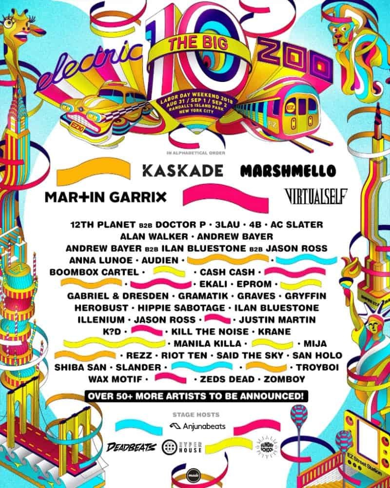 Electric Zoo festival announce 10th anniversary with Marshmello, Martin Garrix, Porter Robinson, Justin Martin and more