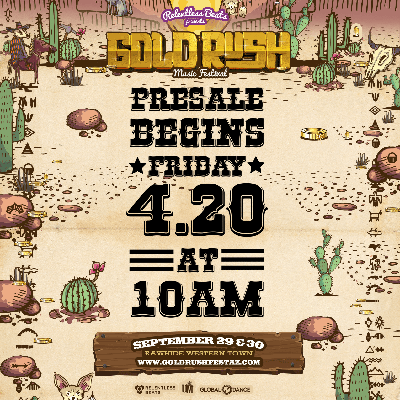 Relentless Beats announces the return of Goldrush Music Festival on September 29 & 30