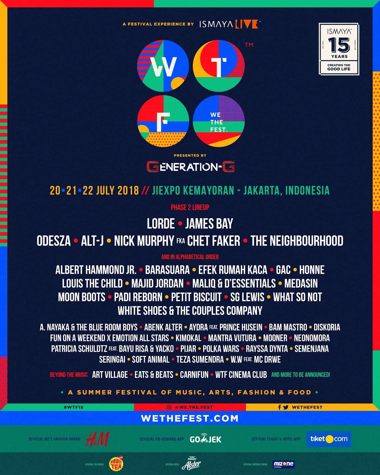 WE THE FEST 2018 REVEALS SECOND PHASE OF ARTISTS