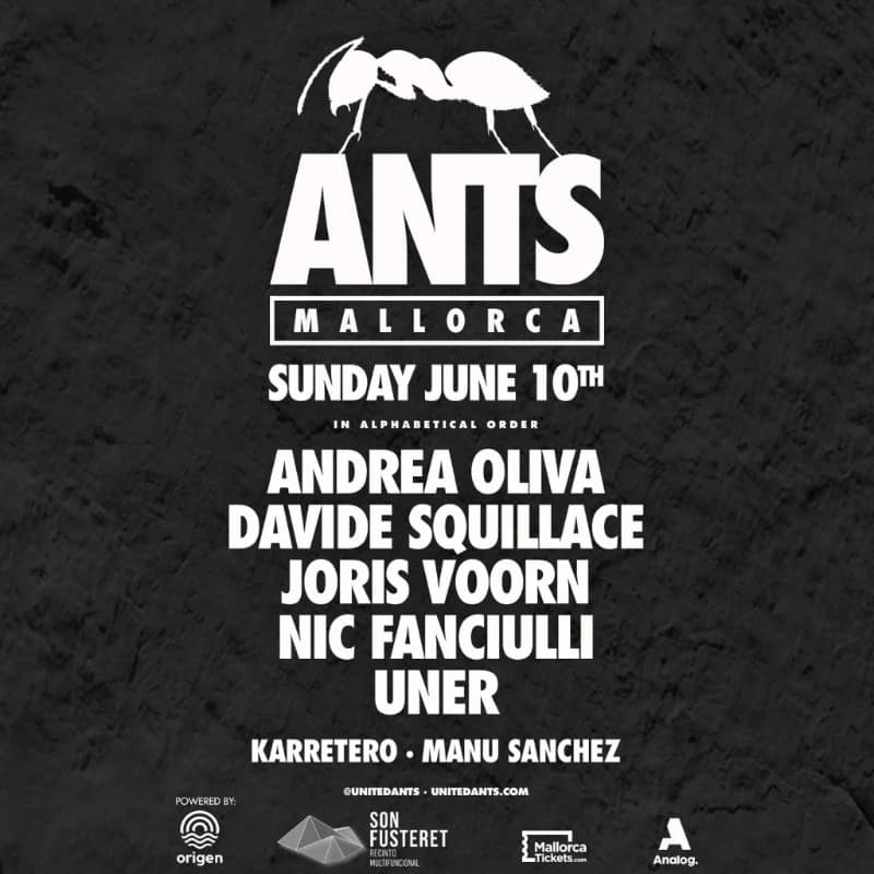 ANTS announces return to Mallorca on 10th June with Andrea