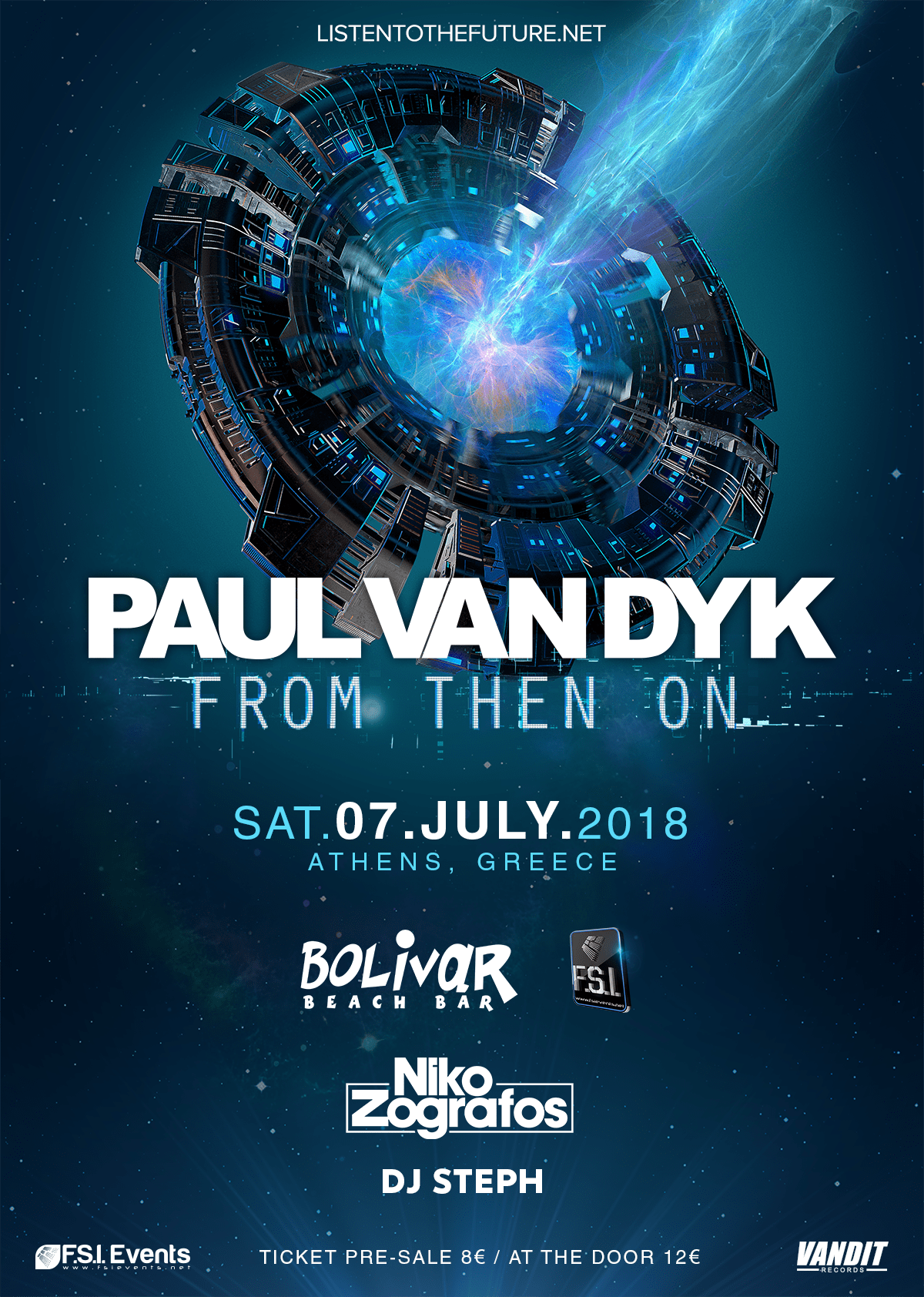 Niko Zografos joins Paul Van Dyk for his debut performance in Greece at Bolivar Beach Bar
