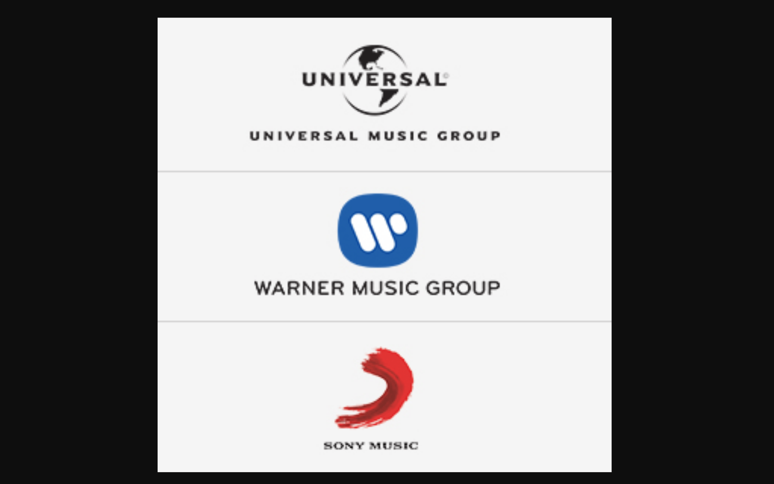 UMG and WMG make recorded-music market-share gains in 2017; SONY outperforms the market in publishing