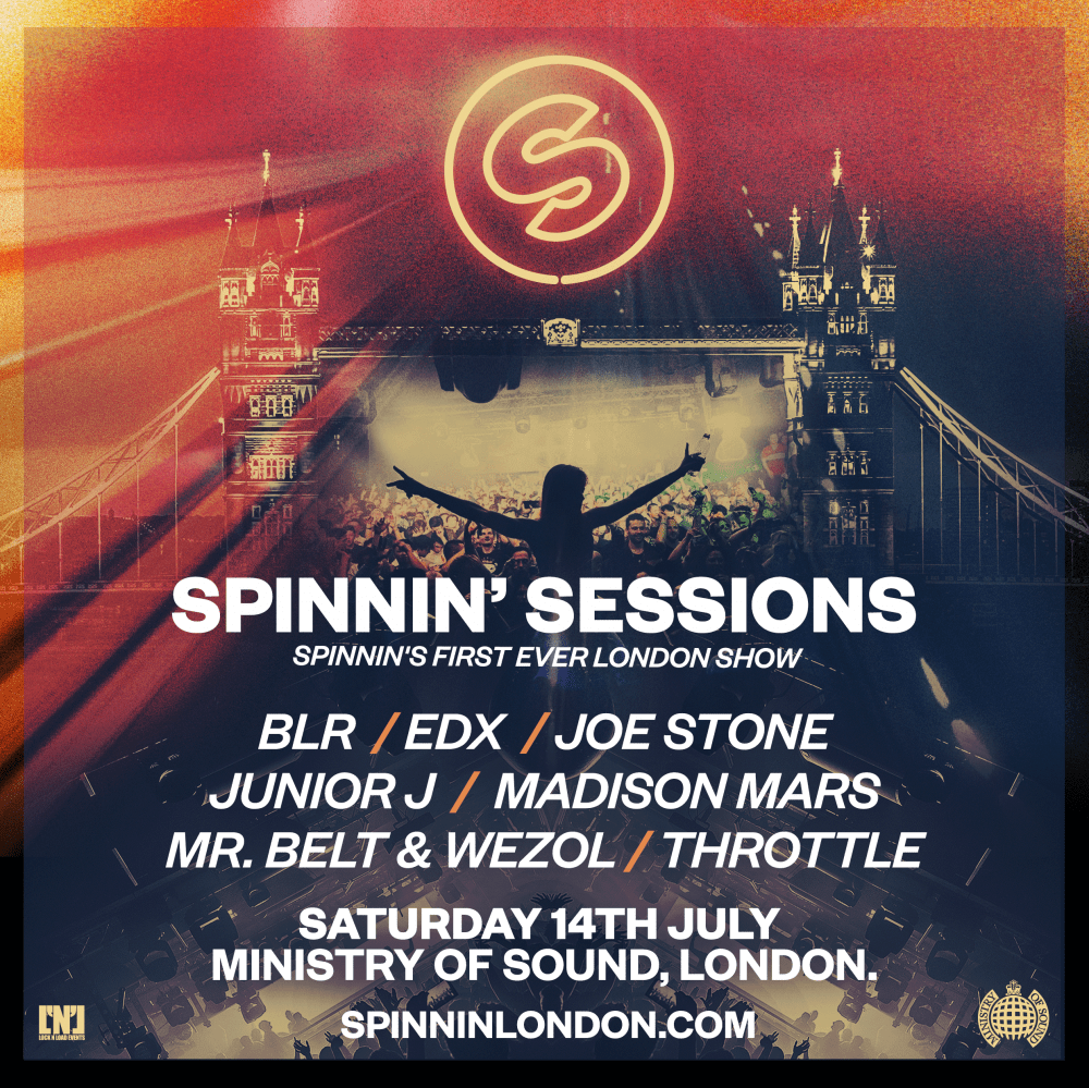 Spinnin' Sessions makes London debut in club Ministry of Sound