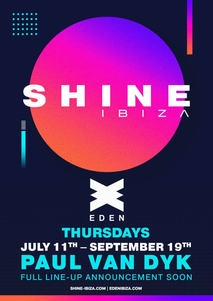 Paul van Dyk Joins SHINE Ibiza