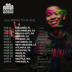 Mason Maynard Debut US Tour Dates This Spring