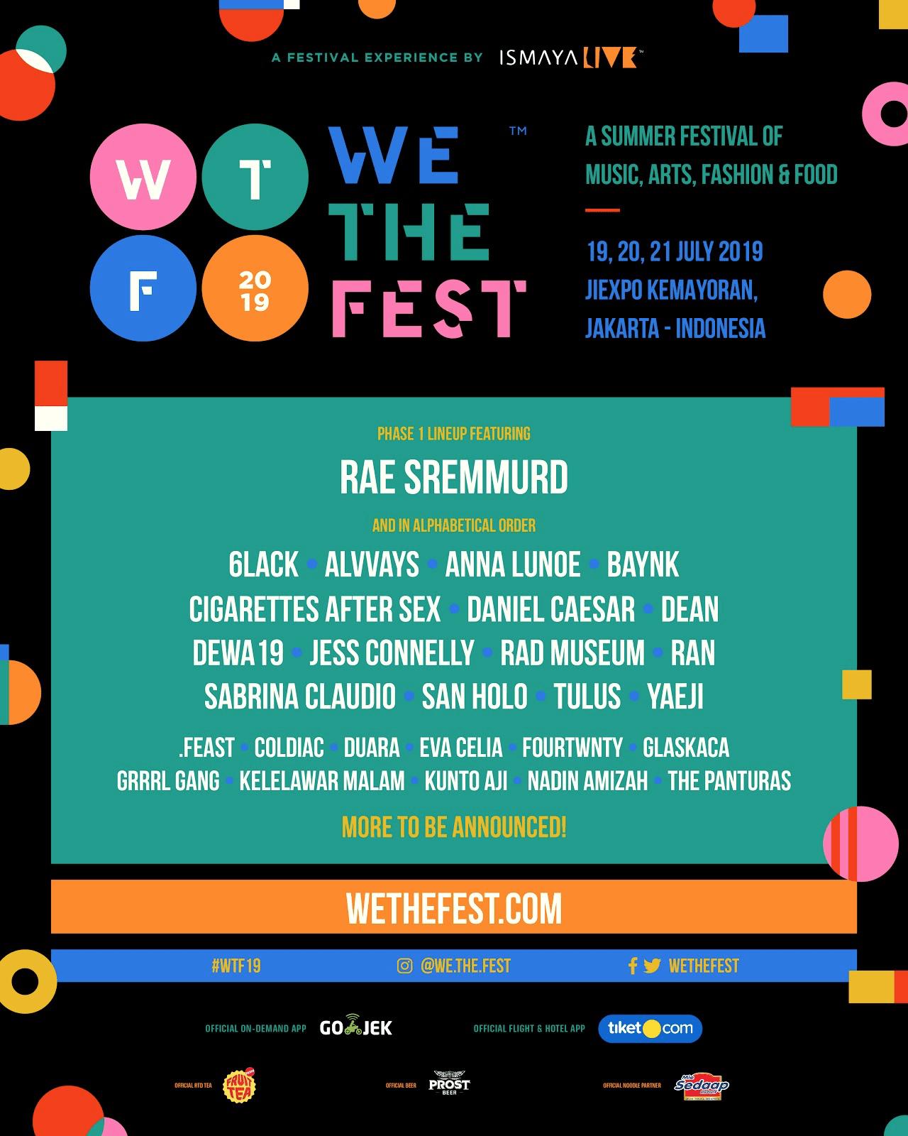 We The Fest 2019 Phase 1 lineup: 6LACK, Daniel Caesar, Yaeji