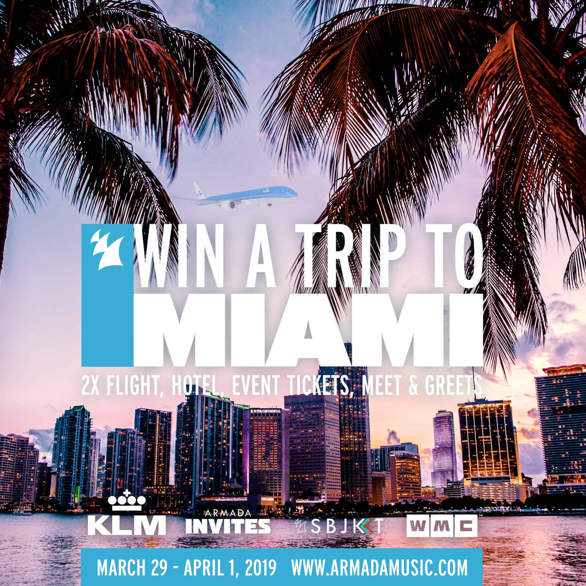 Summer comes early with Armada Music and KLM Royal Dutch Airlines; win the ultimate Miami experience for two