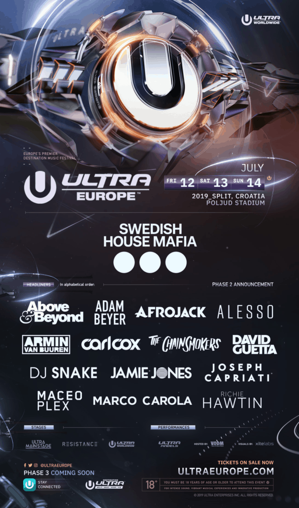 ULTRA Europe 2019 drops tantalising Phase Two Lineup
