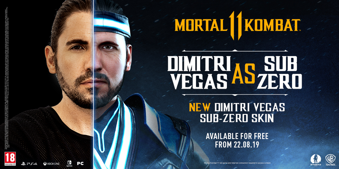 Dimitri Vegas Goes Sub-Zero with Signature Character Skin for Mortal Kombat 11