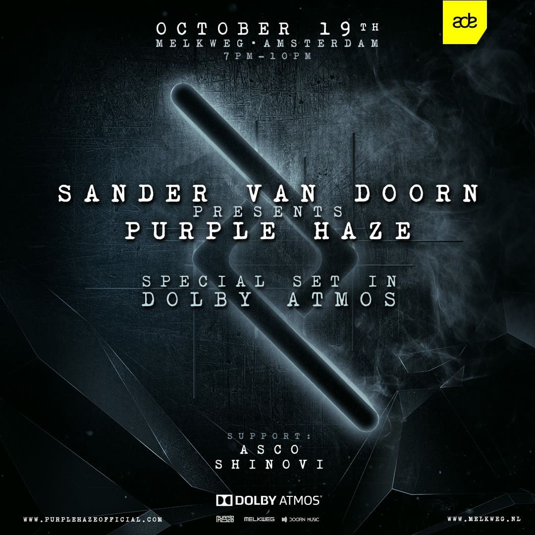 Sander van Doorn Presents Purple Haze in Dolby Atmos ADE 2019